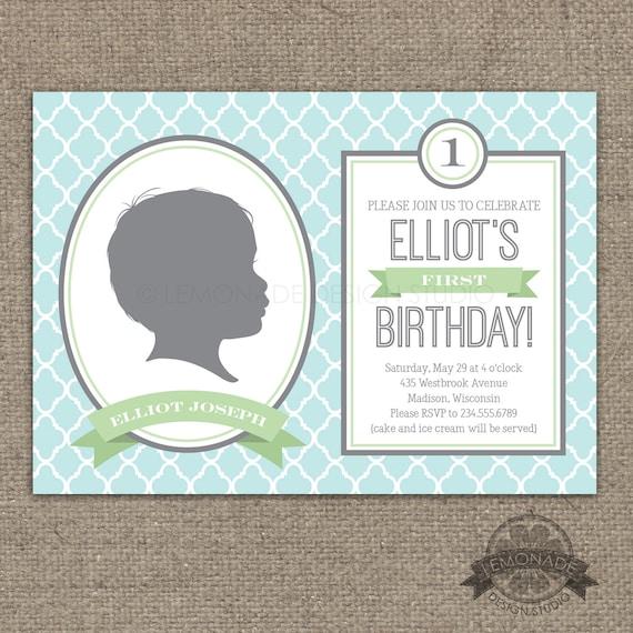 Custom Silhouette Invitation PLUS Poster