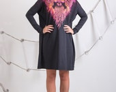 Neon dimensions - oversize dress