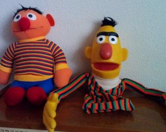 FREE SHIP-Vintage Sesame Street Puppet, Muppets Inc and Bert Doll-Ernie, Bert