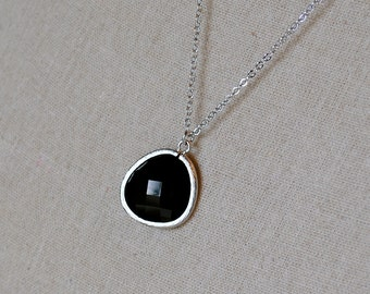 The Reanne Necklace - Black/Silver