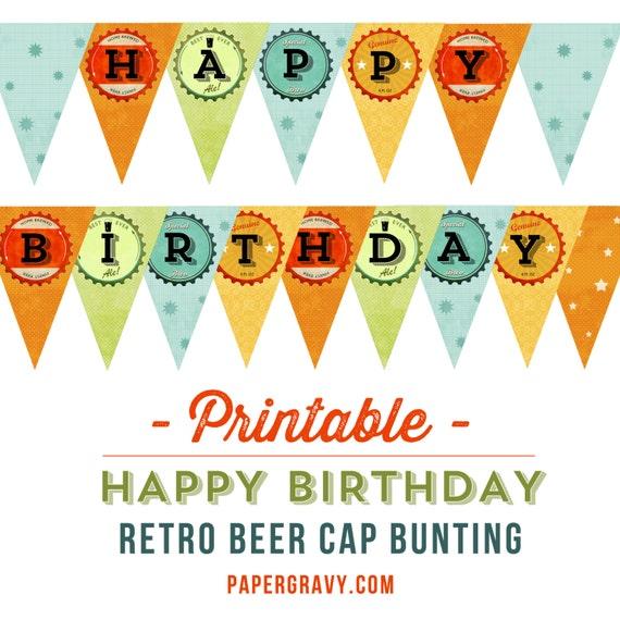 happy birthday printout
