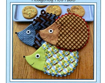 Hedge Fun Hedgehog  Hot Pads Pattern to Make DIY Sewing Susie Shore Designs