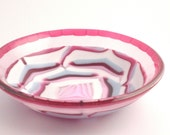 Portland Rose OOAK Large Fused Glass Bowl FB103