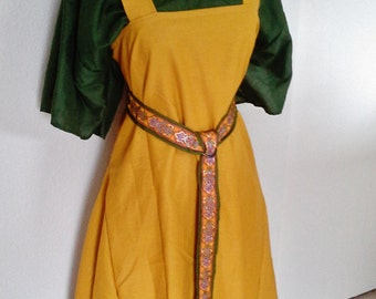 Custom Viking Apron Dress in Linen