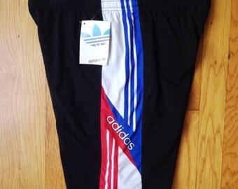 vintage adidas elastic cuffed shorts mens size XL