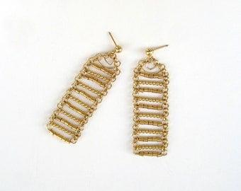 Gold filled bars earrings