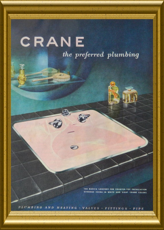 Crane sink ad 1950 39 s pink bathroom decor by dustydiggerlise for Bathroom accessories ads