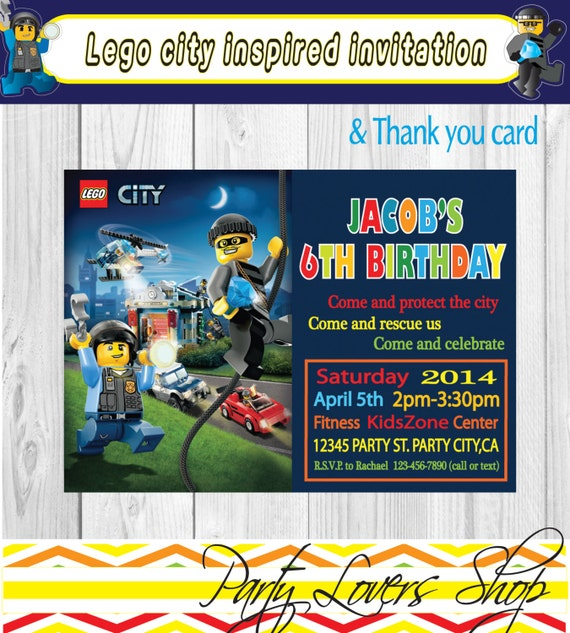 you print lego city inspired fireman police by partyloversshop