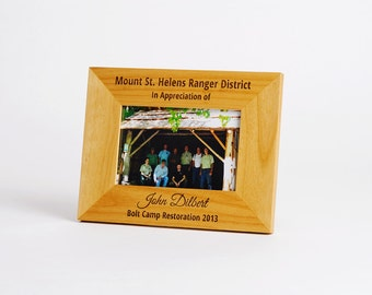 Custom Engraved Photo Frame, Personalized Picture Frame, Wooden Picture Frame, Custom Engraved Wedding Gift, Personalized Birthday Gift
