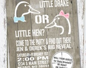 Hunting Theme - Duck Gender Reveal Invitation