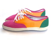 CLEARANCE size 9 vintage COLOR BLOCK sneakers