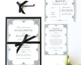 Printable Wedding Invitation - DIY - Filigree