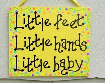 Little Feet Little Hands Little Baby, Dave Matthews decor, DMB Nursery Art, Baby Shower Gift, Nursery Decor, Dave Matthews So Much To Say