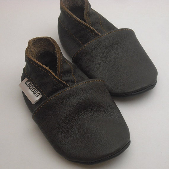 soft sole baby shoes leather infant brown by ebooba