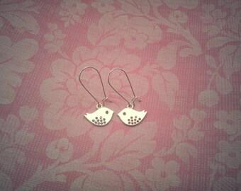 Love Birds Silver Earrings
