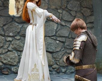 The Accolade Wedding Dress - white velvet bridal gown; ren dress; ren gown