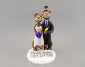 Custom Handmade Monkey Wedding Cake Topper