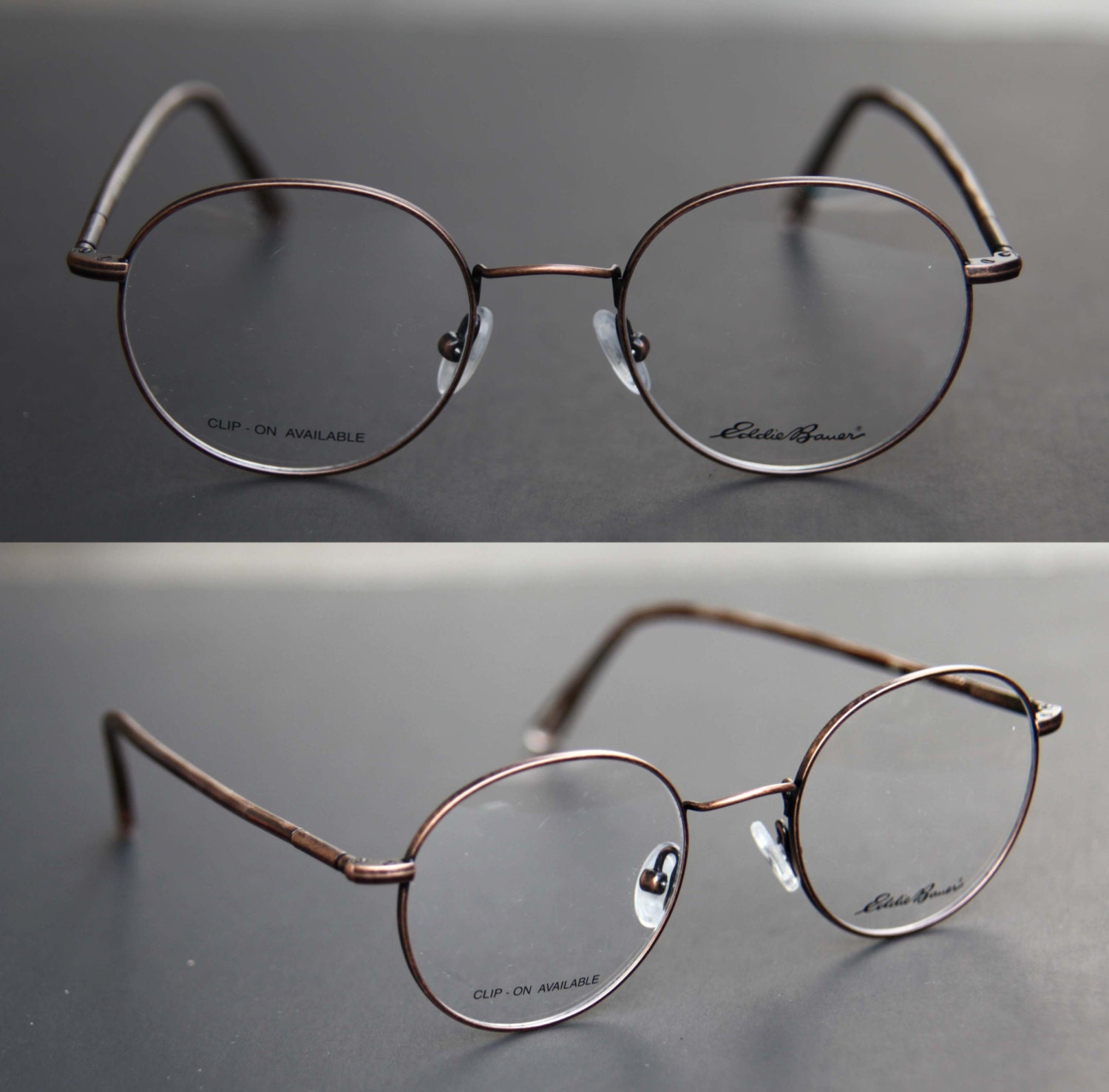 Wire Frame Glasses Vs Plastic : 80s NOS Copper Round Steampunk Wire Frame Eyeglasses by EDDIE