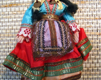 Vintage Native Dressed Greek Doll from the 60s