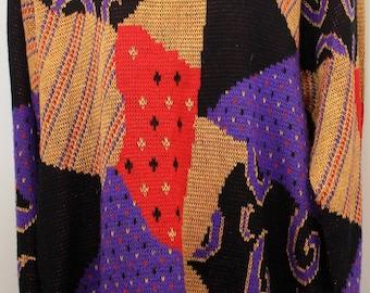 "80s Vintage ""COUNTER PARTS"" Oversized Sweater Sz: Medium"