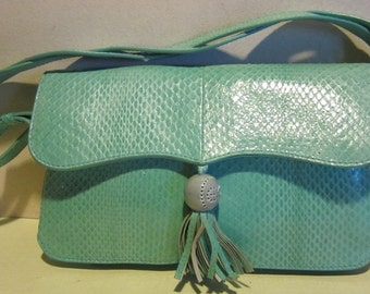 Gorgeous ESCADA snake skin leather evening bag, from the flagship Escada, Italy