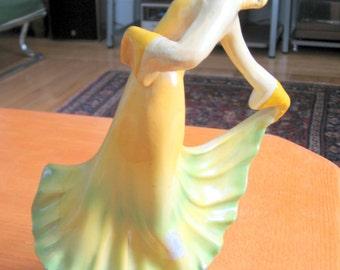 SALE 1950s Chalkware Dancing Woman