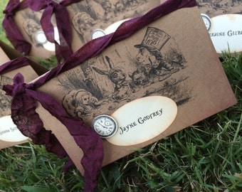 Alice in Wonderland place cards