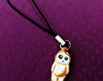 Handmade polymer clay Marshmallow Man cell phone charm