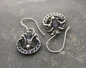 RESERVED | Sinine | Wire-wrapped earrings with silver and iolite