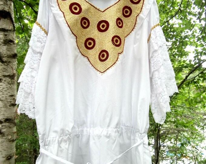 Tunic dress women, boho hippie style.