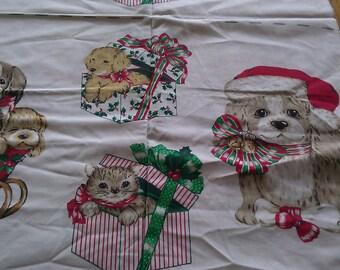 Vintage Hallmark Christmas fabric