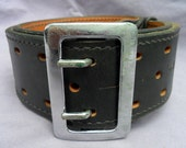 Don Hume Sam Brown Steampunk Duty Belt Black Leather with Metal Buckle B101 30