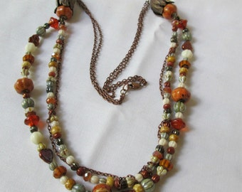 Harvest Colors Multistrand Necklace