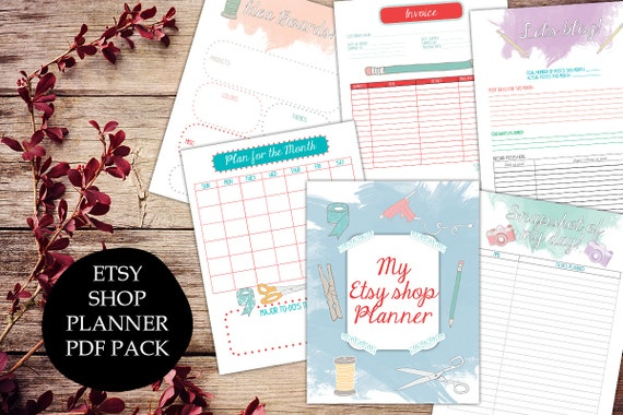 items similar to etsy shop planner printable etsy business