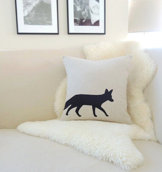 Modern Moose Pillows : Fox Pillow Cover Rustic Modern Woodland Decor by VixenGoods