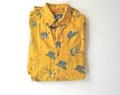 GAP  'Fishing Reel' Long Sleeve Shirt. Sz M.