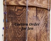 Custom Order - Jewelry Organizer Rustic Jewelry Holder Craft Organizer Wooden Pallet Jewelry Holder Key Rack