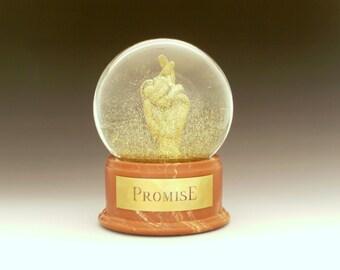 Promise (cross my heart) Snow Globe