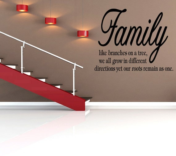 Family Like Branches On A Tree Vinyl Wall Decal Quote