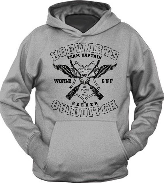 Cool Hogwarts Quidditch Team Potter Book Inspired Hoodie Sweatshirt
