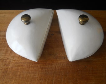 Vintage Half Moon Ceramic Dishes