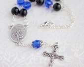 St Michael one decade car rosary, Police Thin Blue Line