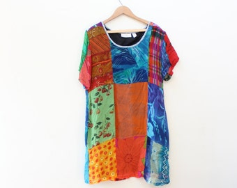 Sunshine Daydream Patchwork Mini Dress