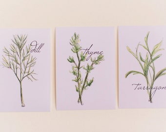 Set of 3 Cooking Herbs Prints