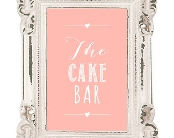 Wedding Stationery_DIY Printable Sign/Poster_The Cake Bar