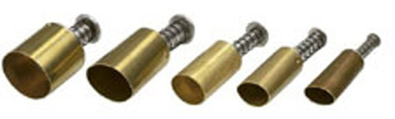"""Plunge style Oval cutter by Kemper Klay Kutters  set of 5 ovals sizes 3/8"""" to 3/4"""""""