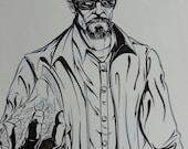 Items similar to Heisenberg - Breaking Bad Original art ...