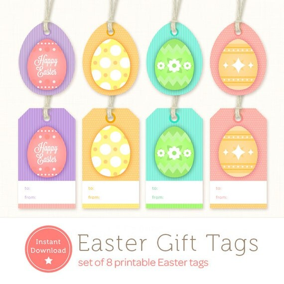 Printable easter tags easter gift tags instant download printable easter tags easter gift tags instant download easter egg tags negle Image collections