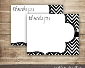 Items similar to Thank You Notes, Signature Chevron Thank You Note ...