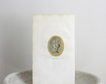1780 Antique Cameo Engraving  St. Aubin 7 1/2 x 13 1/2 inches